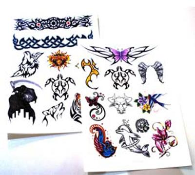 custom temporary tattoos paper