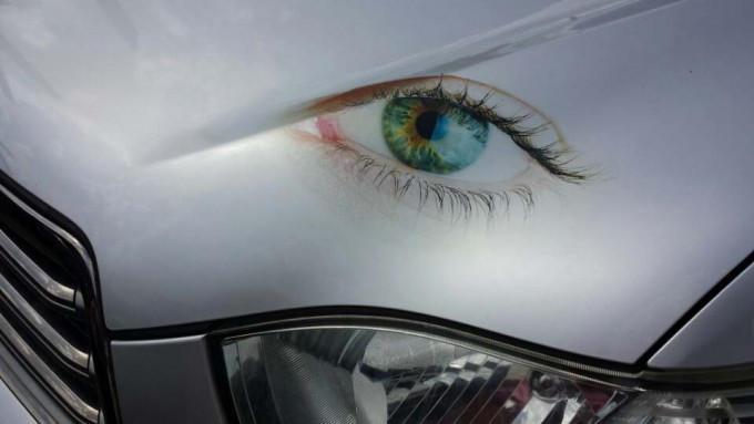 Direct printing on the car using 'Film Free Decal Paper for Laser Printer'