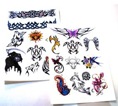 photo about Printable Tattoo Paper called Momentary Tattoo Paper